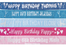 Personalised sash - double sided
